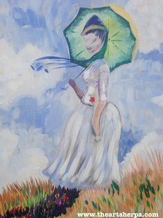Girl with Umbrella by Monet full youtube paint along tutorial on youtube . Woman with Parasol turned to the Left by Claude Monet in Acrylichttps://www.youtube.com/watch?v=XH4vTMLr_no