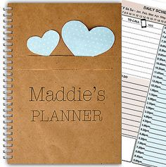 A5 PERSONALISED DAILY PLANNER/ ORGANISER / SCHEDULE/ TO DO LIST PLANNERS/ DIARY!