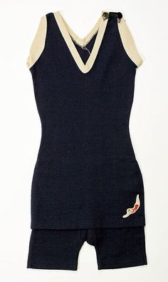 Bathing suit  Date: ca. 1920 Culture: American Medium: wool    Early version featuring the Jantzen girl
