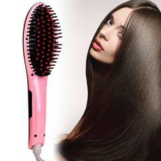 Идеально ровные волосы за считанные минуты без специальной подготовки, с расческой-выпрямителем Fast Hair Straightener!