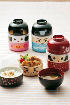 Amazon.com: JapanBargain Japanese Geisha Doll Lunch Bento Box: Cool Bento Box: Kitchen & Dining
