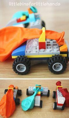 Lego Balloon Car Building Activity Lego Race Cars Kit – blow up the balloon and the car takes off Lego Ballon Car Building Activity Lego Race Cars Kit – blaas de ballon op en de auto stijgt op Lego Balloons, Balloon Cars, Diy Lego, Lego Craft, Lego For Kids, Diy For Kids, Crafts For Kids, Car Crafts, Lego Club
