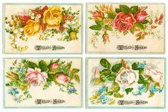 Free Digital Images: Vintage Floral Soap Cards | Just Something I Made