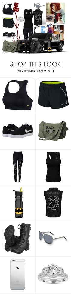 """had to run, now going to the zoo with my family~Nikki"" by satandaughter ❤ liked on Polyvore featuring NIKE, WithChic, ZAK and Bliss Diamond"