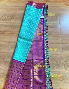 Saree Jacket Designs, Saree Tassels Designs, Saree Kuchu Designs, Kids Blouse Designs, Wedding Saree Blouse Designs, Wedding Silk Saree, Silk Saree Blouse Designs, Kanjivaram Sarees Silk, Wedding Saree Collection