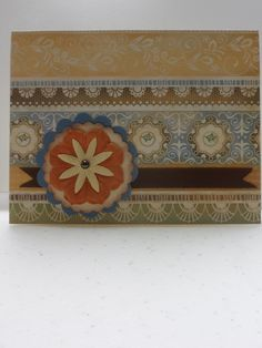 card by Kathy Burrows using CTMH Florentine paper