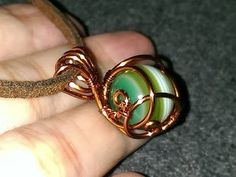 How to make wire jewelery - Wire wrapped spherical stone pendants - YouTube