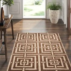Dash and Albert Rugs Catamaran Striped Black/White Indoor / Outdoor Area Rug & Reviews   Perigold Dash And Albert, Light Blue Area Rug, Brown Rug, Outdoor Area Rugs, Indoor Outdoor, Beige Area Rugs, Rug Size, Wool, Contemporary Homes