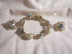 todays arrivals Stunning large blue green pink ab by sharalavintageJewels on Etsy, $125.00