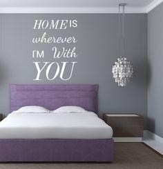 Wandtattoo  -  Home is wherever