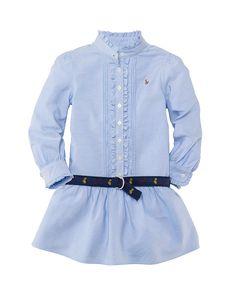 Ralph Lauren Childrenswear Toddler Girls' Oxford Shirtdress
