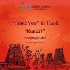 """Thank You"" in Tamil #GroupOuting #GoGroupOuting"