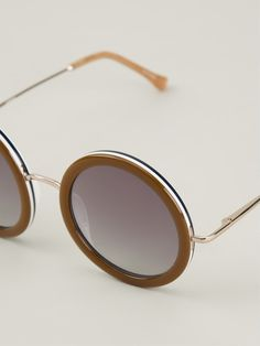 Shop THE ROW FOR LINDA FARROW GALLERY 'The Row 8' sunglasses from Farfetch