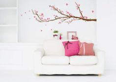 Cherry Blossoms Wall Decal...Preferred decal for bed if I choose this option