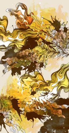 Bloom Triptych by Daryl Feril, via Behance