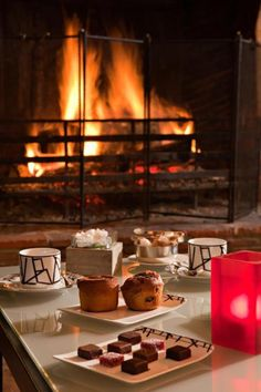 When winter arrives . . . Love is a warm fire, a good book, a hot cup of tea & snacks. Let it snow . . .Let it snow . . . Let it snow.
