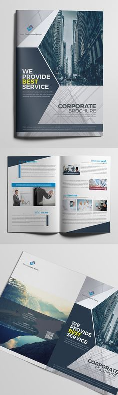 We are a quick and affordable brochure design agency for your Company. Get a stunning Company brochure design. Brochure Indesign, Template Brochure, Brochure Cover, Brochure Layout, Graphic Design Brochure, Corporate Brochure Design, Creative Brochure, Business Brochure, Design Poster