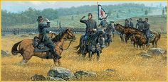 Col Strong Vincent at Gettysburg  Dale Gallon artwork