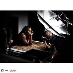 BTS of Platon ( photographing Serena Williams ( for WIRED ( using his Hasselblad Photography Lighting Techniques, Photography Lighting Setup, Photography Basics, Photo Lighting, Photography Tutorials, Light Photography, Portrait Photography, Portrait Lighting Setup, Studio Lighting Setups