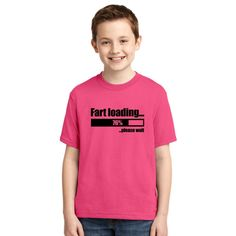 Fart Loading Funny Youth T-shirt