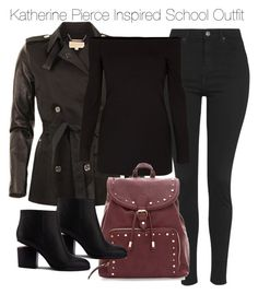 """Katherine Pierce Inspired School Outfit"" by staystronng ❤ liked on Polyvore"