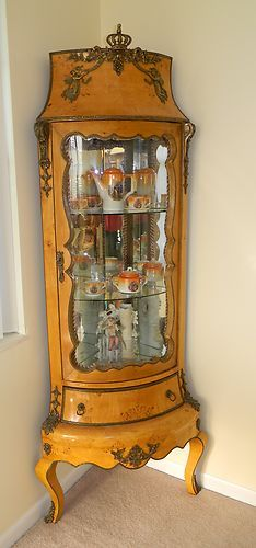 Victorian Corner Furniture Rosewood China Cabinet   c. 1800's