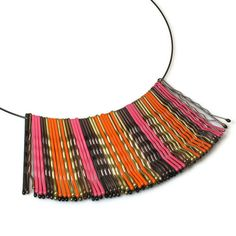 bobby pin necklace, upcycled jewelry