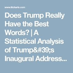 A statistical analysis of presidential inaugural addresses by LitCharts Analitics Persuasive Writing, Cool Words, Politics, Good Things, Education, Reading, Blog, Articles, Usa
