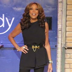 The Wendy Williams Show looks amazing in her Laundry peplum romper! What Wendy wore. Click to shop.