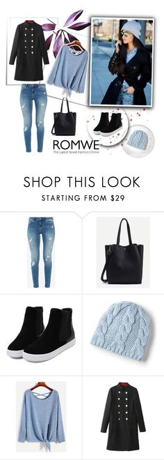 """Romwe 9/IX"" by nermina-okanovic ❤ liked on Polyvore featuring Ted Baker, Lands' End and romwe"