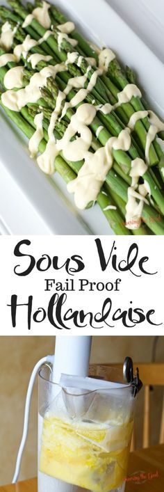 Sous Vide hollandaise is practically fool proof. With the help of sous vide this easy hollandaise sauce recipe is prefect for spooning over eggs Benedict, asparagus or salmon. Follow my step by step instructions on how to make hollandaise sauce and you will never be scared of making homemade hollandaise again. #hollandaise #sousvide #sousviderecipe #homemadehollandaise #easysauce