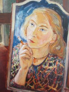 Tove Jansson, 'Self Portrait', 1939 Chalk Pencil, Tove Jansson, Scandinavian Modern, Dahlia, Impressionism, Selfies, Modern Art, October, Portraits