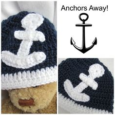 Anchors Away! For your baby! A great photo opportunity! CrochetedbyCharlene