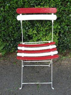 Single Vintage French Folding Garden / Patio/ / Café Chair   eBay UK    eBay.co.uk