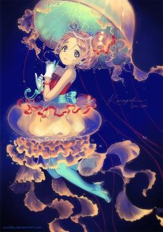 Jellyfish anime girl
