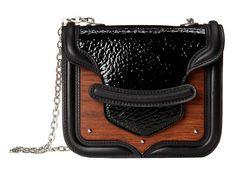 Alexander McQueen Wood Plates Heroine Mini Chain Satchel