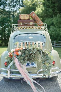 A unique extraordinary eccentric bridal shoot wedding cars tpsheaderwhile decor for your wedding getaway car probably isnt too high on your priority list if you are looking to create a celebratory exit junglespirit Choice Image