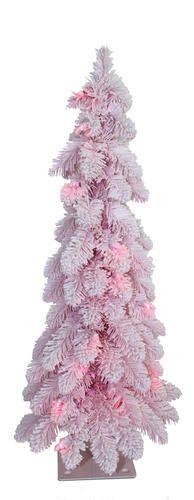 Flocked Pink Pencil Tree (For Addie's room) Snow Flock, Pencil Trees, Peacock Theme, Flocking, Girl Nursery, Fake Snow, Christmas Tree, Holiday Decor, Pink