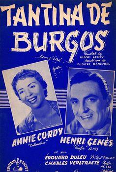 ANNIE CORDY - HENRI GÉNÈS - TANTINA DE BURGOS - 1955 - TANGO - MUSIKNOTE