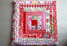 log cabin quilt pattern ~ an entire girls bedroom can be inspired by this one square.