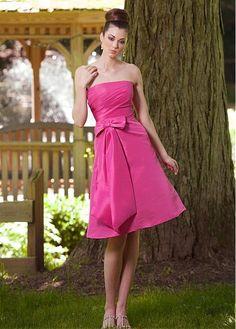 Knee-length A-line Pink Bridesmaid Dress #New Arrival Bridesmaid Dresses  #Ca-Dresses.com