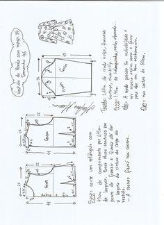 Patrón de vestido manga tres cuartos | PatronesMil