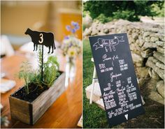 What a great idea to use diecuts for table numbers!!  A cow is great for a farm wedding, but imagine hearts, stars, horseshoes, bows, moons, anything!!