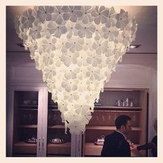 recycled milk jug chandelier//a smaller version for the dining roon