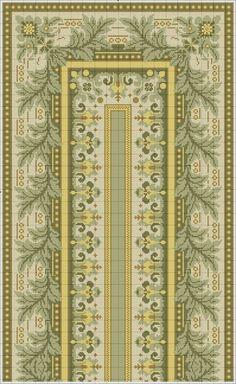 Gallery.ru / Фото #49 - μετρητα 4 - ergoxeiro Cross Stitch Borders, Cross Stitch Patterns, Chart Design, Bargello, Diy Projects To Try, Needlework, Embroidery Designs, Rugs, Knitting