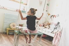 DIY huśtawka do dziecięcego pokoju.