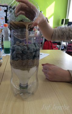 Een mini-waterzuivering maken. Water Science Experiments, Science Fair, Science For Kids, Earth Science, Science Ideas, Stem Projects, Science Projects, Stem Activities, Activities For Kids