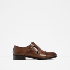 Image 1 of BUCKLED MONK LEATHER SHOES from Zara