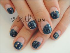 cute galaxy nails