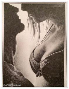 tableau boudoir Desir au crayon graphite : Dessins par aurelie-ledoux